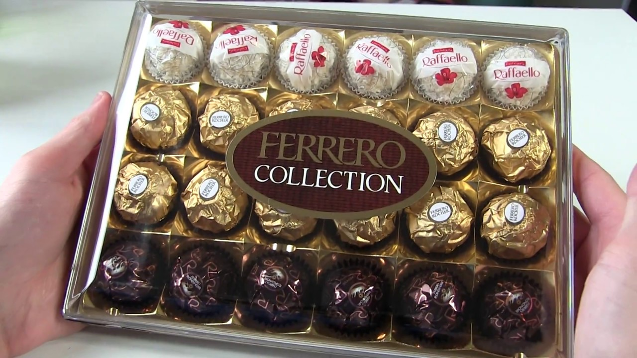 Ferrero Chocolate Collection Unboxing Rocher Rafaello Rondnoir Youtube