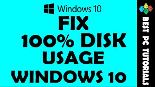 Windows 10- Solve 100% Disk Usage Problem