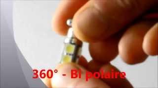 ampoule led auto c5w 36mm 37mm blanc 6000k 360 bipolaire zelda cnjy light bulb