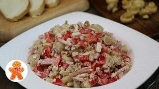 """Салат """"Вкусный"""" - яркий по составу и разнообразию вкуса"""