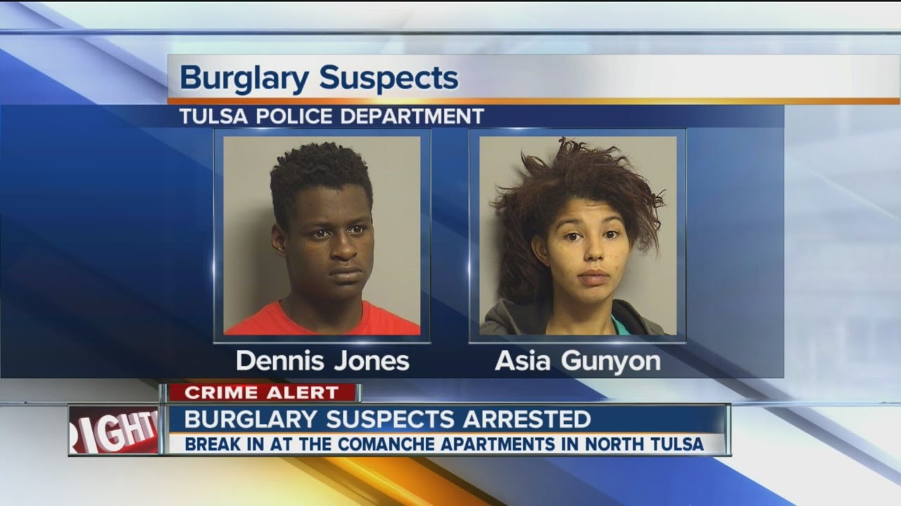 2 burglary suspects arrested in North Tulsa