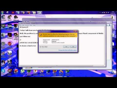 How to fix : Fatal Error! Adress 0x0