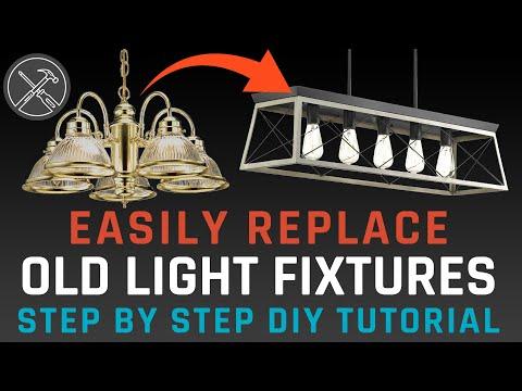 Easily Upgrade Your Light Fixtures - DIY