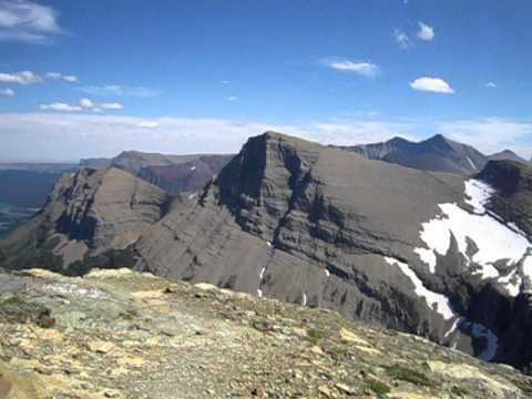 View from the summit of Swiftcurrent Mountain