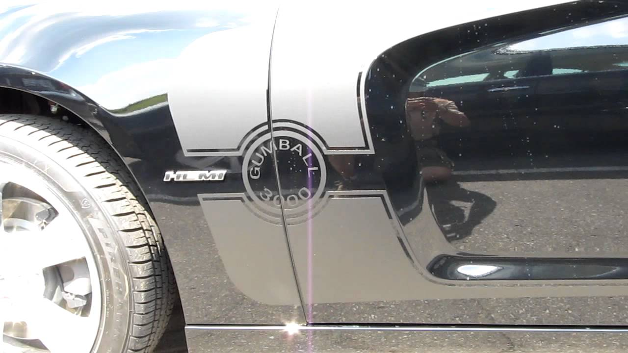 2011 Dodge Charger R T Hemi Emblem And Gumball 3000 Racing Stripes