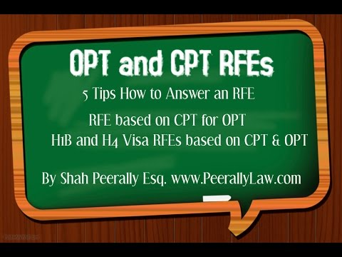 5 Tips how to answer an OPT/CPT RFE |