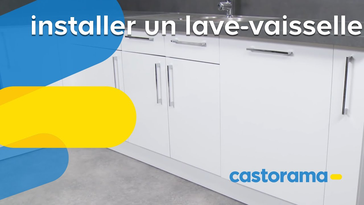 Installer un lave vaisselle castorama youtube for Pose porte lave vaisselle encastrable