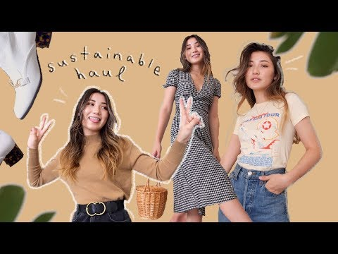 SUSTAINABLE HAUL 🌿 reformation, re/done, vintage