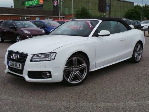 2017 61 Audi A5 1 8t Fsi S Line Convertible In White