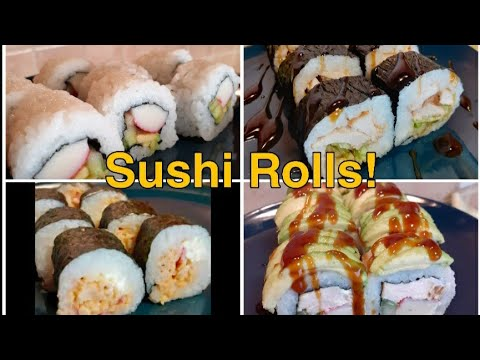 Sushi rolls step by step (easy) #sushi #californiaroll #easysushi