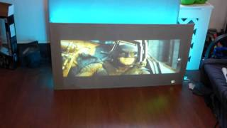 DIY BUILD A HIGH QUALITY PROJECTOR SCREEN THAT HDTV LIKE WITH CRYSTAL EDGE