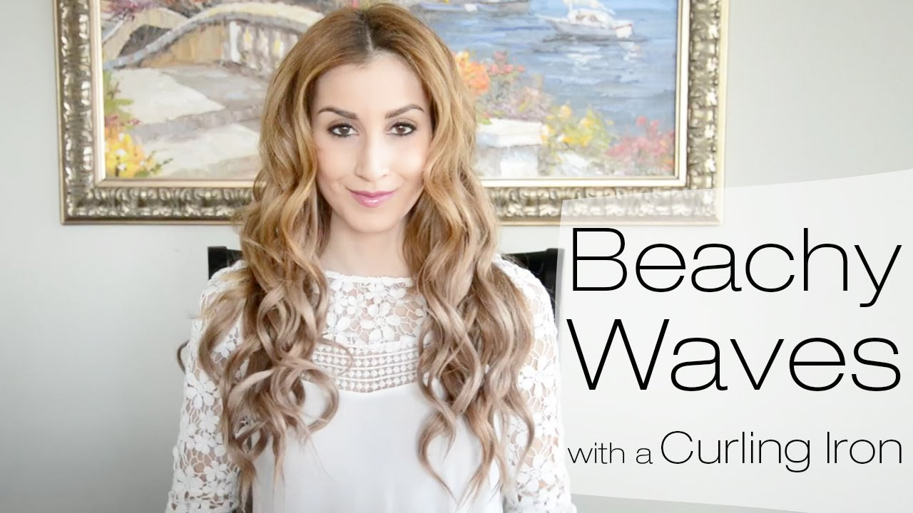 Beachy Waves Hairstyle for Everyday Using a Curling Iron | Fancy ...