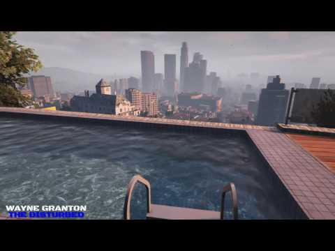 Video Game Ambience Asmr  - Pool side mansion city view of L.A