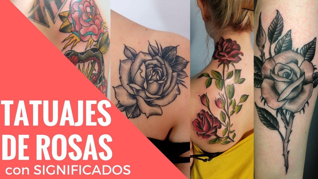 Rose Tattoo ó Tatuajes De Rosas Con Su Significado Por Sus Colores O