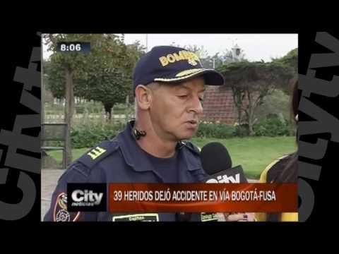 Accidente de tránsito deja 39 heridos en la vía Bogotá - Fusa | Citytv| 9 de noviembre.mov