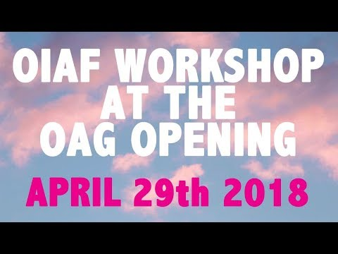 Ottawa Art Gallery Opening Weekend | Get Animated! Workshop