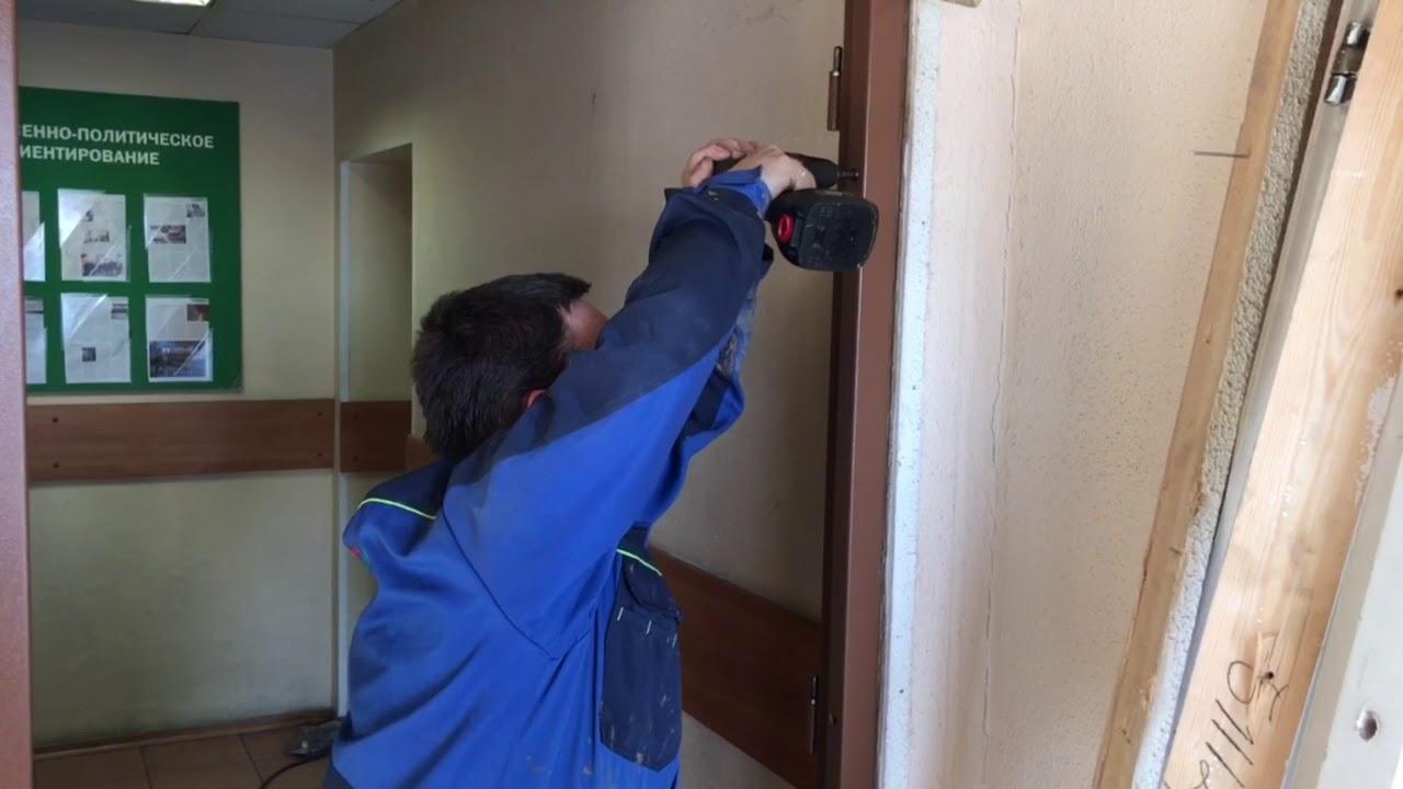 Установка противопожарных дверей от компании Уверенность