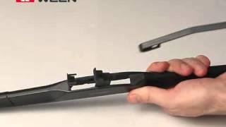 """Видеоинструкция по установке щеток стеклоочистителя, адаптер """"Hook"""",  размер 9х3 и 9х4 мм"""