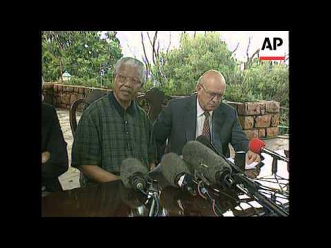 South Africa - De Klerk And Mandela Make Up