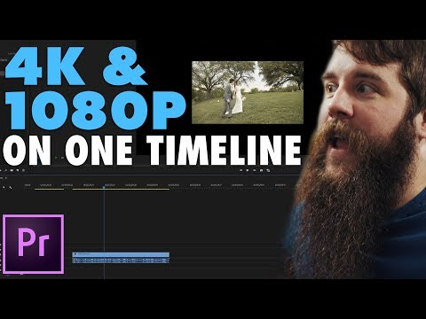 How To Edit Video With Mixed Resolutions | Upscale 1080P & Downscale 4K Footage In Premiere Pro