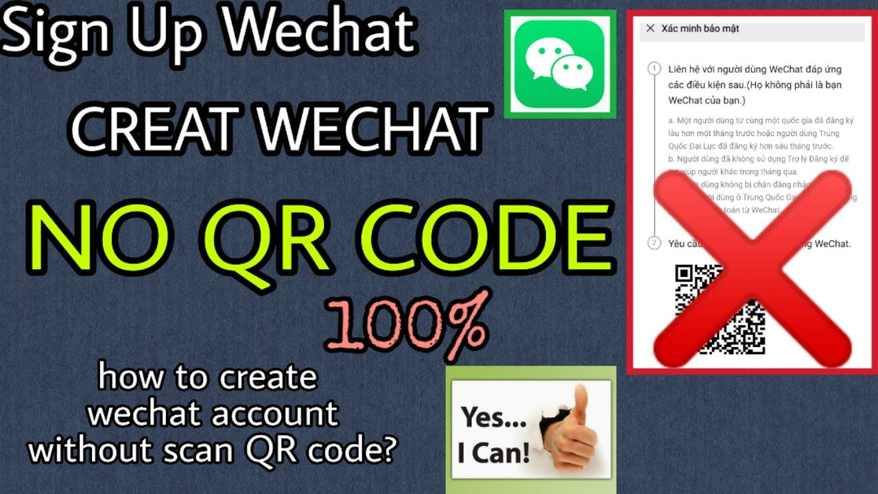 Can i sign up wechat without phone number