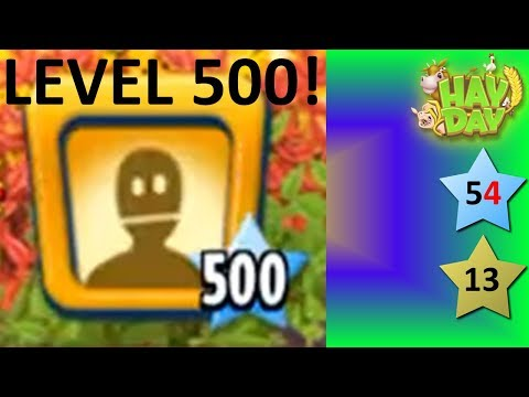 HAY DAY - HIGHEST LEVEL PLAYER REACHES LEVEL 500!
