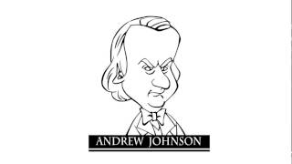 How to draw Andrew Johnson