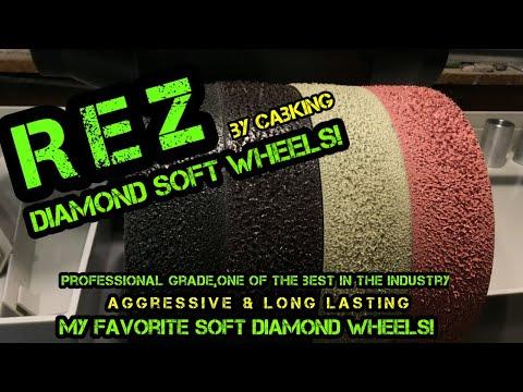 REZ Diamond Soft Lapidary Wheels