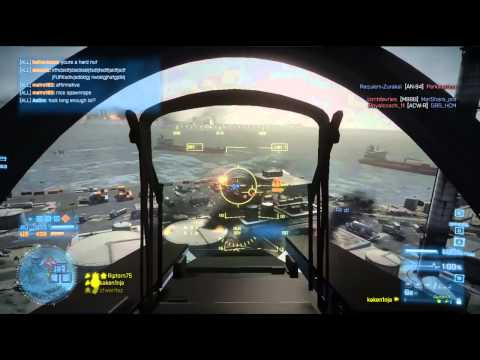 Battlefield 3 Jet Gameplay: Kharg Island 67-2