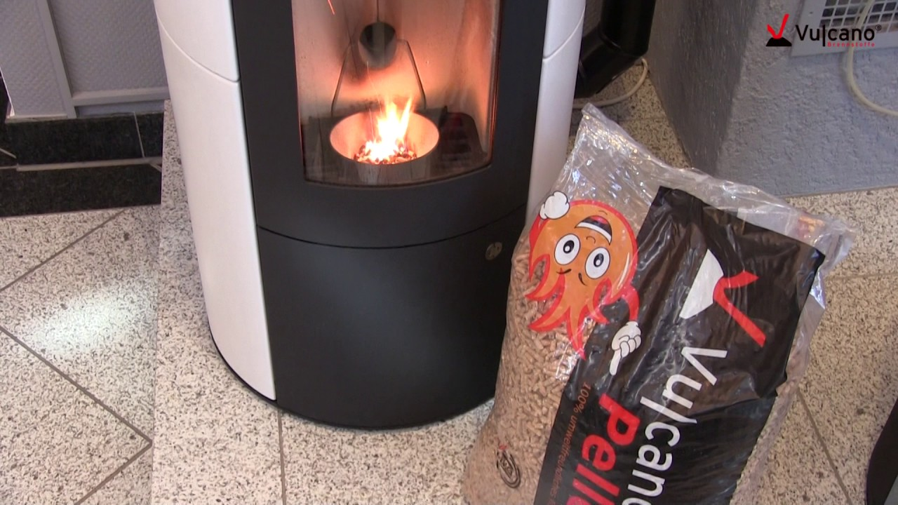 vulcano pellets brennen im olsberg inara youtube. Black Bedroom Furniture Sets. Home Design Ideas