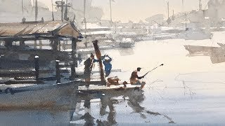 """Advancing with Watercolor: Patterns """"Gloucester Fishermen"""""""