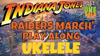 UkeAula | ✅ 'Raiders March' BSO Indiana Jones (John Williams) PLAY ALONG para UKELELE