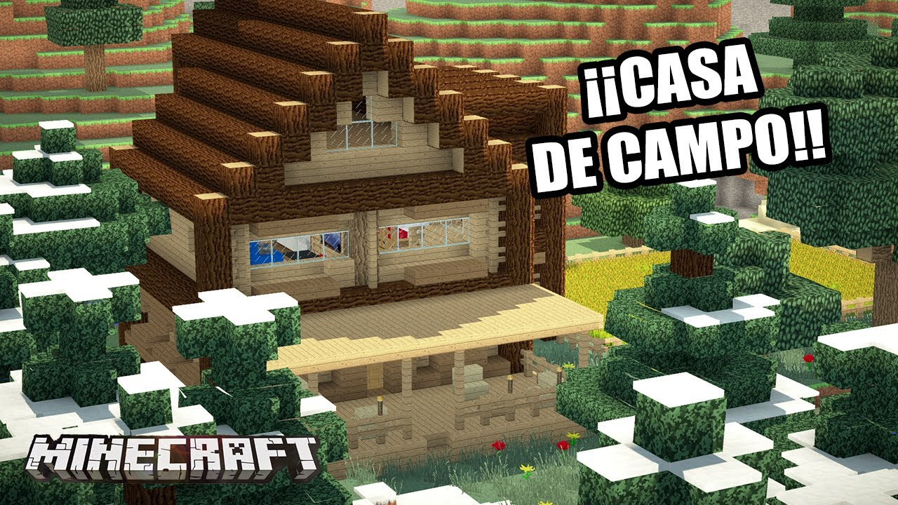 Minecraft casa de campo casas de subs youtube for Como construir una casa de campo