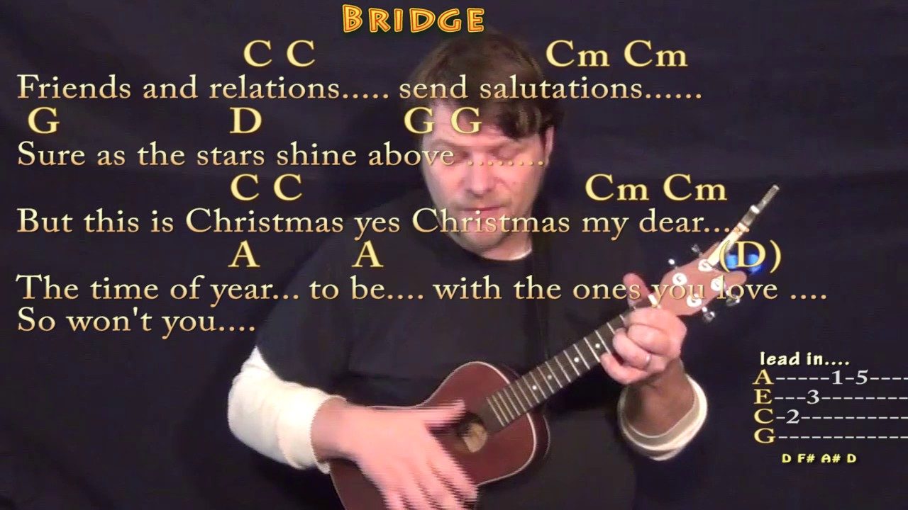 Please Come Home For Christmas (Eagles) Ukulele Cover Lesson in G ...