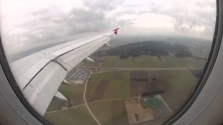 Landing at Memmingen airport from Belgrade with Wizzair
