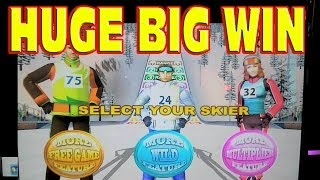 Snow Stars ** HUGE BIG WIN JACKPOT ** New White Winter Slot Machine Winner