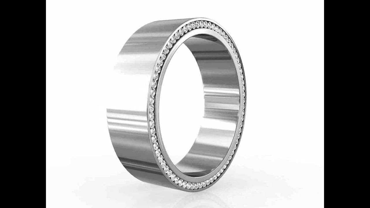 diamond ct eternity row clean band cut bands mens wedding s ring round men