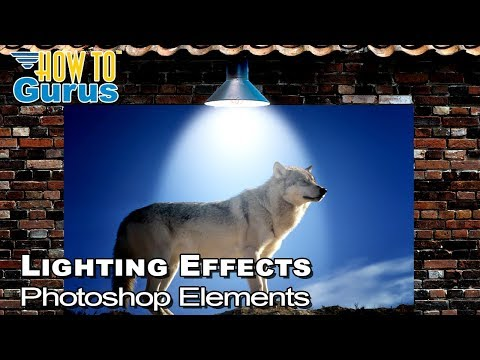 How to Add Photoshop Elements Lighting Effects - Adding a Light Effect to a Wall Poster thumbnail