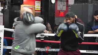 BEAST ON THE RISE! UNDEFEATED MARCUS BROWNE SHOWING SERIOUS SKILLS - MITT WORKOUT