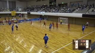 5日 ハンドボール男子 あづま総合体育館 Aコート 江津×湯沢 1回戦 1