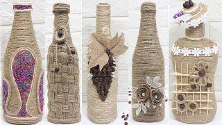 10 Jute bottle decoration ideas | Home decorating ideas handmade