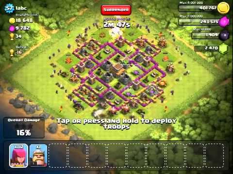 Clash of Clans: Level 6 Archers Attack! - YouTube