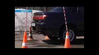 Барнаульские школьники за рулем автомобиля в автошколе БЦВВМ. Дети, вождение и ПДД