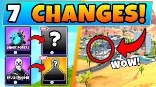Fortnite Update: 7 *NEW* CHANGES in 6.02! - Map Changes, Ghost Portal (Battle Royale Gameplay)