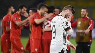 North Macedonia players wild with joy after huge shock win over Germany at World Cup Qualifier