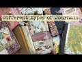 Differant types of journals / What's a junk journal ? What's a smashbook ? | I'm A Cool Mom