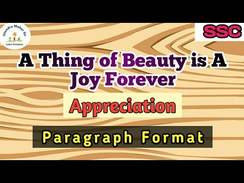 4 1 A Thing Of Beauty Is A Joy Forever Poem Appreciation New