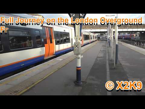 Full Journey On The London Overground From Richmond to Stratford