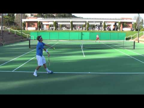 Jan 15, 2011 Denis Lin vs Clay Thompson men's college tennis singles