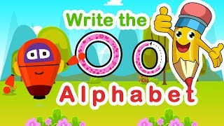 How  to Write the letter O   Alphabet Writing lesson for kids   KidsLearnTv